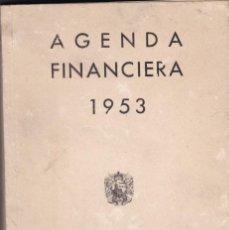 Libros: AGENDA FINANCIERA 1953 BANCO DE BILBAO . Lote 161393802