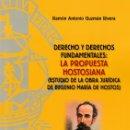 Libros: DERECHO Y DERECHOS FUNDAMENTALES: LA PROPUESTA HOSTOSIANA (R.A. GUZMÁN RIVERA) F.U.E. 2019. Lote 165948250