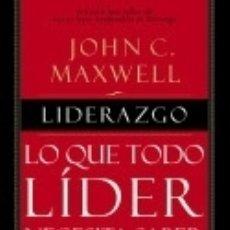 Libros: LIDERAZGO: LO QUE TODO LIDER NECESITA SABER. Lote 166382605