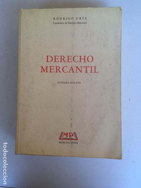 LIBRO-DERECHO MERCANTIL-D.RODRIGO URÍA-1993-VIGÉSIMA EDICIÓN-VER FOTOS (Libros Nuevos - Ciencias, Manuales y Oficios - Derecho y Economía)