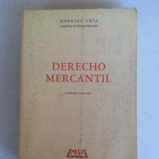 Libros: LIBRO-DERECHO MERCANTIL-D.RODRIGO URÍA-1993-VIGÉSIMA EDICIÓN-VER FOTOS. Lote 169107544