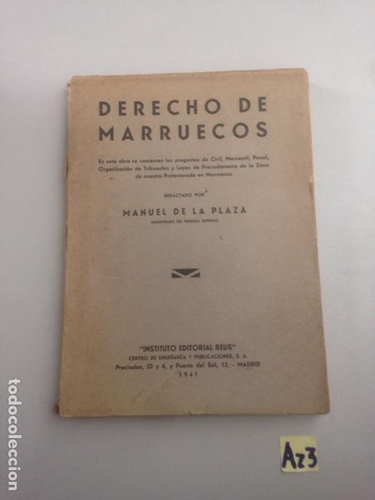 DERECHO DE MARRUECOS MANUEL DE LA PLAZA (Libros Nuevos - Ciencias, Manuales y Oficios - Derecho y Economía)