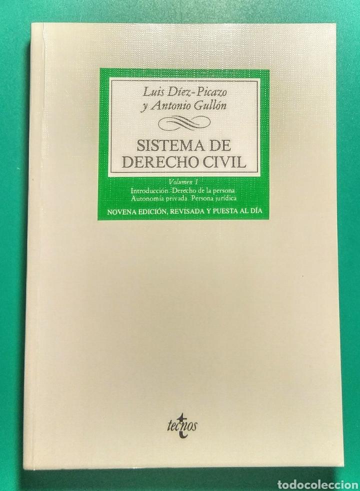 SISTEMA DE DERECHO CIVIL. LUIS DÍEZ-PICAZO. 2000. (Libros Nuevos - Ciencias, Manuales y Oficios - Derecho y Economía)