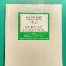 Libros: SISTEMA DE DERECHO CIVIL. LUIS DÍEZ-PICAZO. 2000.. Lote 179208672