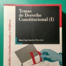 Libros: TEMAS DE DERECHO CONSTITUCIONAL (1). M.A. APARICIO.. Lote 180903855