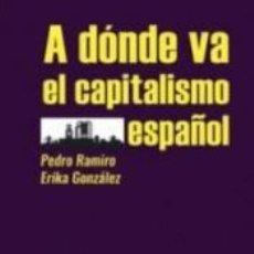 Libros: A DONDE VA EL CAPITALISMO. Lote 185976678