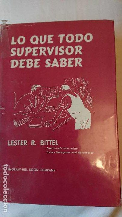 LO QUE TODO SUPERVISOR DEBE SABER (Libros Nuevos - Ciencias, Manuales y Oficios - Derecho y Economía)