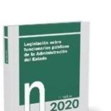 Libros: LEGISLACIÓN SOBRE FUNCIONARIOS PÚBLICOS DE LA ADMINISTRACIÓN DEL ESTADO. NORMATIVA 2020. Lote 195171380