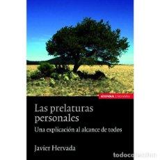 Libros: LAS PRELATURAS PERSONALES (JAVIER HERVADA) EUNSA 2012. Lote 196750283