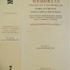 Libros: LARRUGA, EUGENIO. PRODUCCIONES Y COMERCIO DE LA PROVINCIA DE BURGOS... VOL. X. 1995.. Lote 198221012