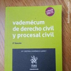 Libros: VADEMECUM DERECHO CIVIL Y PROCESAL CIVIL 2ª EDICIÓN. Lote 201370966