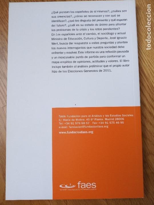 Libros: Los españoles ante el cambio ( Wert, José Ignacio ) - Foto 2 - 201371172