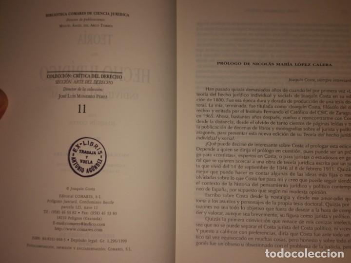 Libros: Teoría del hecho jurídico individual y social. Costa, Joaquín (1846-1911) - Editorial Comares: 2000 - Foto 2 - 204370575