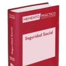 Libros: MEMENTO SEGURIDAD SOCIAL 2020. Lote 205657675