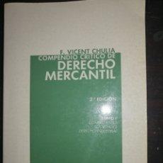Libros: DERECHO MERCANTIL-TOMO I. Lote 206827171