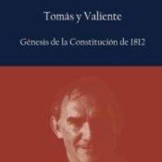 Libros: GÉNESIS DE LA CONSTITUCIÓN DE 1812. Lote 206980628