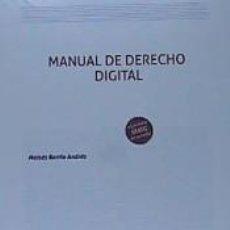 Libros: MANUAL DE DERECHO DIGITAL. Lote 210085601