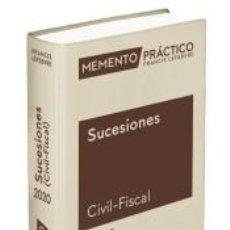 Libros: MEMENTO SUCESIONES (CIVIL-FISCAL) 2020. Lote 210193556