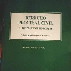 Libros: DERECHO PROCESAL CIVIL II LOS PROCESOS ESPECIALES PARA UNED. Lote 210458646