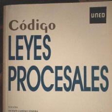 Libros: CÓDIGO DE LEYES PROCESALES PARA UNED. Lote 210458855