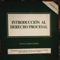 Libros: INTRODUCCIÓN AL DERECHO PROCESAL PARA UNED. Lote 210458960
