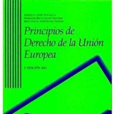 Libros: PRINCIPIOS DEL DERECHO DE LA UNIÓN EUROPEA PARA UNED. Lote 210459141