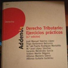 Libros: DERECHO TRIBUTARIO EJERCICIOS PRÁCTICOS, PARA UNED. Lote 210459245