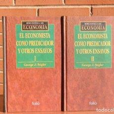 Libros: GEORGE J. STIGLER: EL ECONOMISTA COMO PREDICADOR Y OTROS ENSAYOS. Lote 210552333