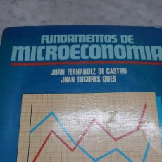 Libros: FUNDAMENTOS DE MICROECONOMÍA, DE JUAN FERNÁNDEZ DE CASTRO Y JUAN TUGORES PRPM 39. Lote 210615923