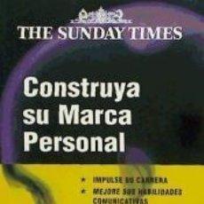 Libros: CONSTRUYA SU MARCA PERSONAL. Lote 210647961