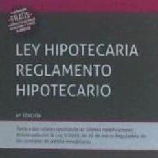 Libros: LEY HIPOTECARIA REGLAMENTO HIPOTECARIO.. Lote 210819410