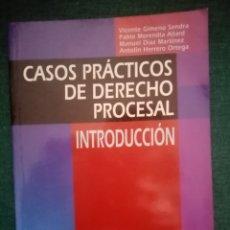 Libros: LIBRO CASOS PRÁCTICOS DE DERECHO PROCESAL. INTRODUCCIÓN. 2004. Lote 211575447