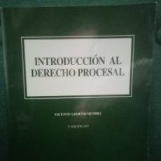 Libros: LIBRO INTRODUCCIÓN AL DERECHO PROCESAL. VICENTE GIMENO SENDRA. EDITORIAL COLEX. 2007. PP 351. Lote 211575967