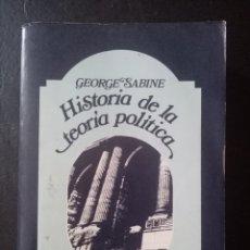 Libros: LIBRO HISTORIA DE LA TEORÍA POLÍTICA. GEORGE H. SABINE. PP6 77. Lote 211580237