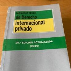 Libros: LEGISLACIÓN DERECHO INTERNACIONAL PRIVADO. Lote 217802767