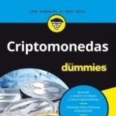 Libros: CRIPTOMONEDAS PARA DUMMIES. Lote 217813331
