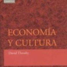 Libros: ECONOMÍA Y CULTURA. Lote 218025137