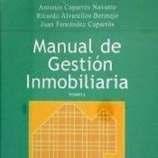 Libros: MANUAL DE GESTION INMOBILIARIA. Lote 218105946