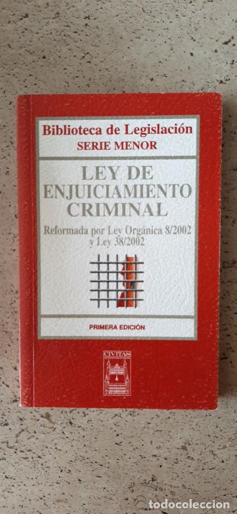 LIBRO LEY DE ENJUICIAMIENTO CRIMINAL (Libros Nuevos - Ciencias, Manuales y Oficios - Derecho y Economía)