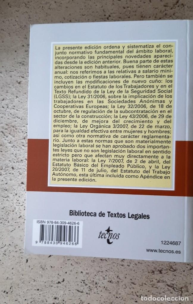 Libros: LIBRO DE LEGISLACION LABORAL. - Foto 2 - 218177641