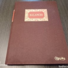 Libros: ANTIGUO LIBRO BALANCE CONTABILIDAD MIQUELRIUS. Lote 218663656