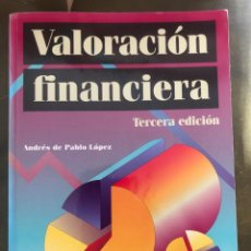 Libros: VALORACION FINANCIERA - ANDRES DE PABLO LOPEZ. 3º EDICIÓN 2007. Lote 219726741