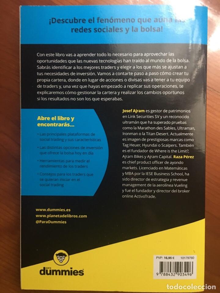 Libros: SOCIAL TRADING para dummies. Josef Ajram y Raza Pérez - Foto 2 - 220453451