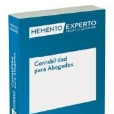Libros: MEMENTO EXPERTO CONTABILIDAD PARA ABOGADOS. Lote 221753342