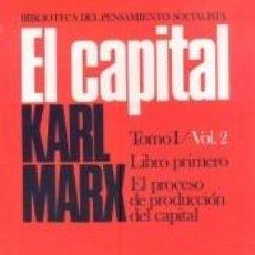 Libros: EL CAPITAL: CRÍTICA DE LA ECONOMÍA POLÍTICA. LIBRO I: EL PROCESO DE PRODUCCIÓN DEL CAPITAL II.. Lote 222495553