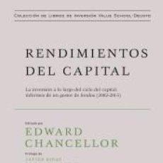Libros: RENDIMIENTOS DEL CAPITAL. Lote 222627998