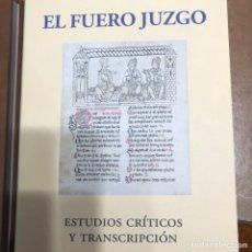 """Libros: LIBROS """"EL FUERO JUZGO"""". CÓDICE MURCIANO. JOSÉ PERONA. EDICIÓN AÑO 2002. Lote 222940412"""