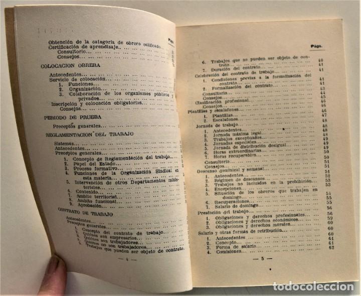Libros: LOTE CUATRO PUBLICACIONES ESCUELA SINDICAL DE LA F.E.T. Y DE LAS J.ON.S. AÑOS 50 - VER RELACIÓN - Foto 5 - 225207857