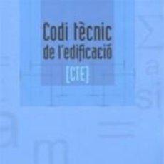 Libros: CODI TÈCNIC DE LEDIFICACIÓ (CTE). Lote 227138185
