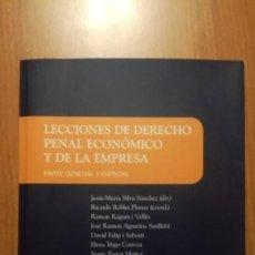 Libros: LECCIONES DE DERECHO PENAL ECONÓMICO 1A ED. 2020. Lote 227191575